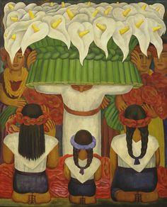 Frida Kahlo & Diego Rivera: Flower Festival: Feast of Santa Anita - Jigsaw Puzzle by Eurographics Jasper Johns, Jackson Pollock, Moma, Diego Rivera Frida Kahlo, Clemente Orozco, Phoenix Art Museum, Flower Festival, Mexican Artists, Whitney Museum