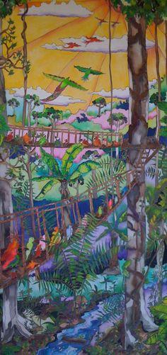 Silk painting Fly Away by EverySilkTellsAStory on Etsy, $700.00