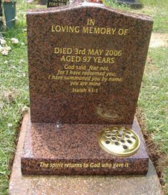 Headstones are typically used as the memorial of any person who has passed away to serve as a remembrance of their life. http://www.hallettstone.com.au