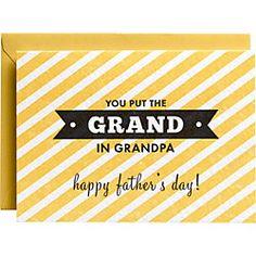 Letterpress Grand In Grandpa Father's Day Card