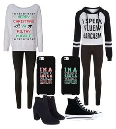 """Cuties"" by fangirlmendes on Polyvore featuring Balmain, J Brand, Converse and Monsoon"