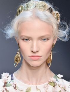 Sasha Luss at Dolce&Gabbana Spring 2014