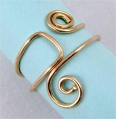 925 sterling silver 14k Yellow gold plated wire ring handmade Simple Classic New #Inter #Band