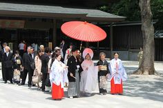 We were lucky enough to catch a traditional wedding at the Meiji Shrine