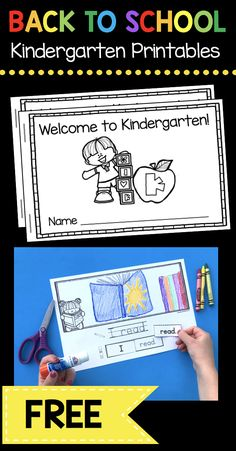 FREE Kindergarten Back to School activities - printables and worksheets - mini books - sentences - sight words - comprehension and reading passages FREEBIES #kindergarten #backtoschool
