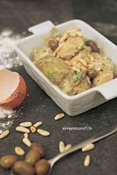 Turkey Fricassee with Artichokes, Olives and Pine Nuts - Tacchino in fricassea con carciofi, olive taggiasche e pinoli | Un Pinguino in Cucina