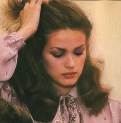 Gia Carangi photographed by Albert Watson, featured in Vogue Patterns Dec. 1978
