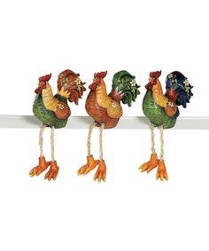 Another great find on #zulily! Rooster Sitting Figurine Set #zulilyfinds