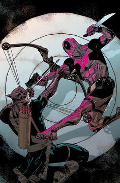 Deadpool vs Bullseye by Jason Pearson