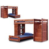 Found it at Wayfair.ca - Twin Over Twin L-Shaped Bunk Bed with 5 Drawer Lingerie Chest and Staircase