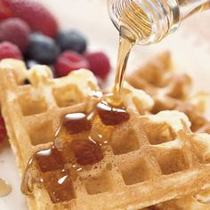 Serve with melted butter and warm maple syrup, or try making your own Brown Sugar Syrup.
