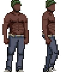 This weeks character exercise. It's amazing how much more detailed you can make a character with just 5 pixels extra height. I'll have to start adding eyes soon! Next week: 70 pixels :O 3d Pixel, Pixel Characters, Make A Character, 8 Bit Art, Pixel Animation, Pixel Design, Cartoon Art Styles, Super Happy, Sprites