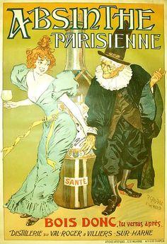 ¤ Absinthe Parisienne 'Bois donc, tu verras après' Date 1896 (revue La Plume. page 775 at http://gallica.bnf.fr/ark:/12148/bpt6k156001 )  Author P. Gélis-Didot (b. 1853) & Louis Malteste (1870-1920)