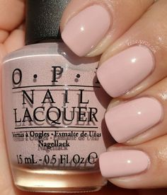 OPI My Very First Knockwurst- Germany collection. Loving this for a light fall color or even a soft colored wedding nail!
