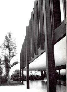 Edificio de la Administración para Bacardi en Tultitlán, México 1961    Arq. Mies van der Rohe    Foto Brehme -    Bacardi Administration Building,Tultitlan, Mexico 1961