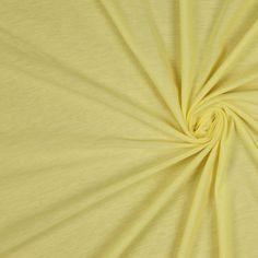 Lemon Solid Jersey Fabric by the Yard   Mood Fabrics