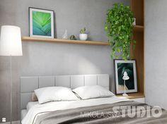 Współczesna, jasna sypialnia. - zdjęcie od MIKOŁAJSKAstudio - Sypialnia - Styl Skandynawski - MIKOŁAJSKAstudio