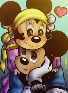 One of my favorite classic Disney couples. Mickey and Minnie Minnie Mouse Images, Mickey Mouse Art, Mickey Mouse Christmas, Mickey Mouse And Friends, Image Mickey, Mickey Love, Cute Disney, Disney Art, Walt Disney
