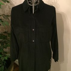 J. Crew black corduroy shirt thin stripes preppy Great for fall and winter. Under a jacket or by itself J. Crew Tops