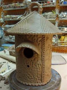 Image detail for -... the tubes are now taking shape – and becoming ceramic birdhouses
