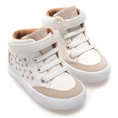 Zara Trendy Basketball Shoes (68 BRL) ❤ liked on Polyvore featuring baby, kids and white