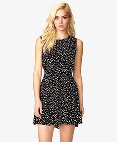 A-Line Polka Dot Dress | FOREVER21 - 2039127363