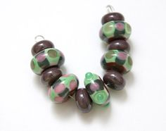 Set of Artisan Lampwork Beads For Jewelry Design by blancheandguy, $29.00