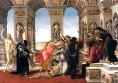 Sandro Botticelli - Calumny of Apelles, 1495 at Uffizi Galleria Florence #TuscanyAgriturismoGiratola