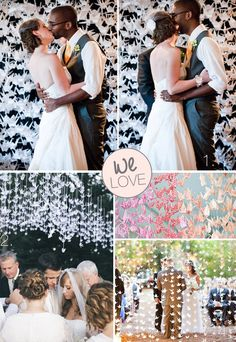 Amazing Paper Origami Backdrops for Weddings - Ceremony backdrops