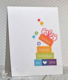 Happy Happy from Joyful Creations with Kim. Stamps by Neat and Tangled.