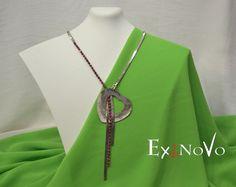 ΧΕΙΡΟΠΟΙΗΤΑ ΚΟΛΛΙΕ ΜΕ SWAROVSKI ELEMENTS Washer Necklace, Pendant Necklace, Swarovski, Handmade, Jewelry, Fashion, Moda, Hand Made, Jewlery
