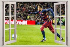 Neymar Barca 3D Window Decal Wall Sticker Decor Art Mural Barcelona FCB H838: Neymar… #memorabilia #fashion #collectibles #home #garden