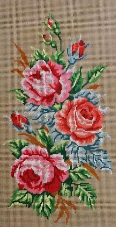 Kanavatyö - Ruusut