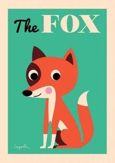 Poster Fuchs - Ingela P. Arrhenius - 50 X 70 -...