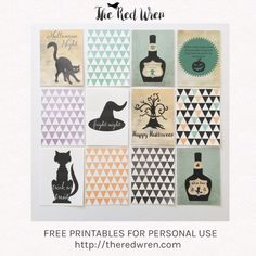 Free Halloween Pocket Cards for Project Life journaling cards & filler cards