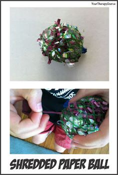 Shredded Paper Ball | YourTherapySource.com Blog