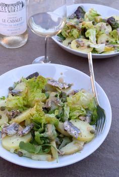 Recipe: Anchovy, Caper & Potato Salad with French Vinaigrette French Potato Salad, French Potatoes, University Food, French Vinaigrette, Macaroni Salads, Great Recipes, Favorite Recipes, French Recipes, Pasta Salad Recipes