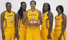 LA Sparks, Nneka Ogwumike, Nicky Anosike, Candace Parker, Ebony Hoffman, and Alana Beard #basketball #wnba