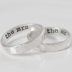His And Hers Personalized Rings Sterling Silver By Hydaybridal 64 95 S Wedding Ringswedding