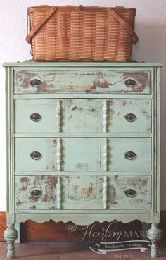 Chippy green dresser