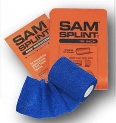 """Amazon.com: SAM Splint Combo 36"""" O/B Flat with 3"""" Blue Cohesive Wrap from Rescue Essentials: Health & Personal Care"""