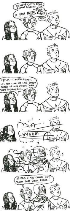 Lol!! Quicksilver goin' to get his Dad Magneto