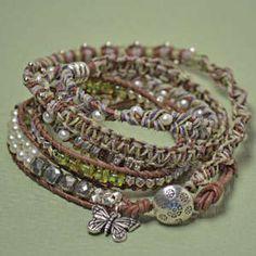 Five Stitch Wrap Bracelet-Jane Austen