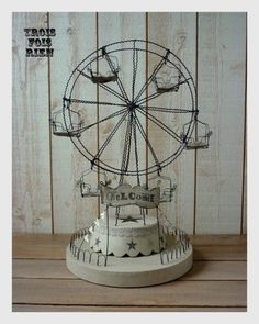 I already have the iron ferris wheel...love the idea of fancying it up.