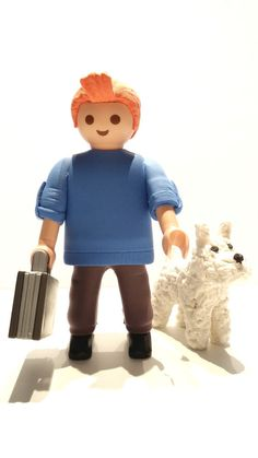 FIGURA CUSTOM TINTIN Y MILU COMIC CINE PLAYMOBIL Lego Tv, Playmobil Sets, Heart For Kids, Jouer, Stop Motion, Great Pictures, Smurfs, Miniatures, Toys