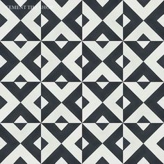 Cement Tile Shop - Handmade Cement Tile | Checkered Black