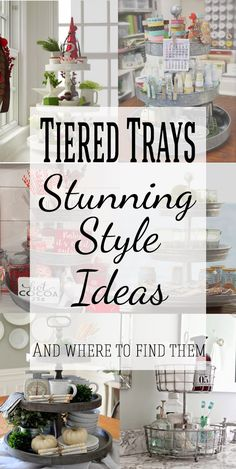 3 Tiered Tray Stand Decor are great for budget decorating! They make great organization and storage as well as beautiful displays for seasonal decorating such as christmas decor, fall, and spring. So many great ideas! #homedecor #organization