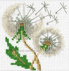 Buy Dandelion Seeds Cross Stitch Kit DISC Online at www.sewandso.co.uk
