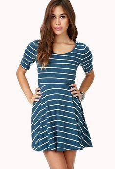 Darling Striped Skater Dress | FOREVER21 - 2040495612