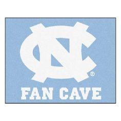 North Carolina Tar Heels Man Cave Tailgater Area Rug Floor Mat 5' X 6'